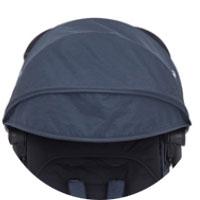 Складной капор с окошком для присмотра и козырьком, имеет защиту от УФ-лучей 50+