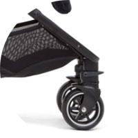 4 колеса, передние имеют функцию вращения на 360 градусов с возможностью фиксации;